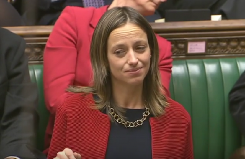 Helen Whately asks a question to the Prime Minister in the House of Commons
