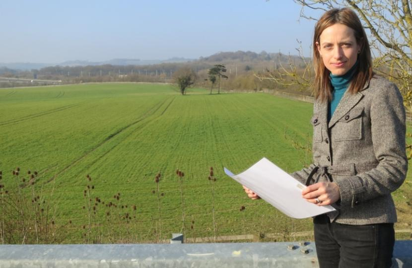 Helen Whately in her Faversham and Mid Kent constituency
