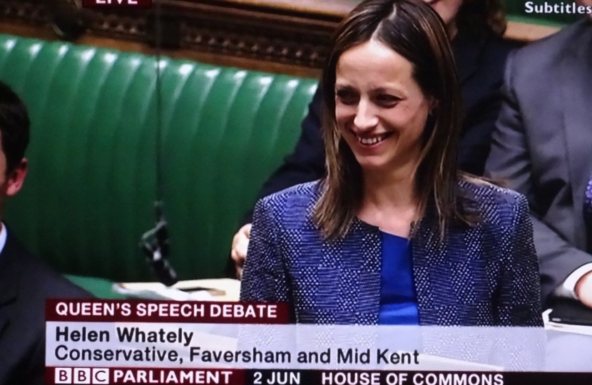 Helen Whately delivers her maiden speech to Parliament