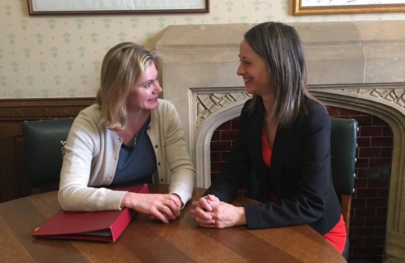 With Education Secretary Justine Greening