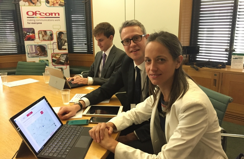 Helen Whately tries out Ofcom checker