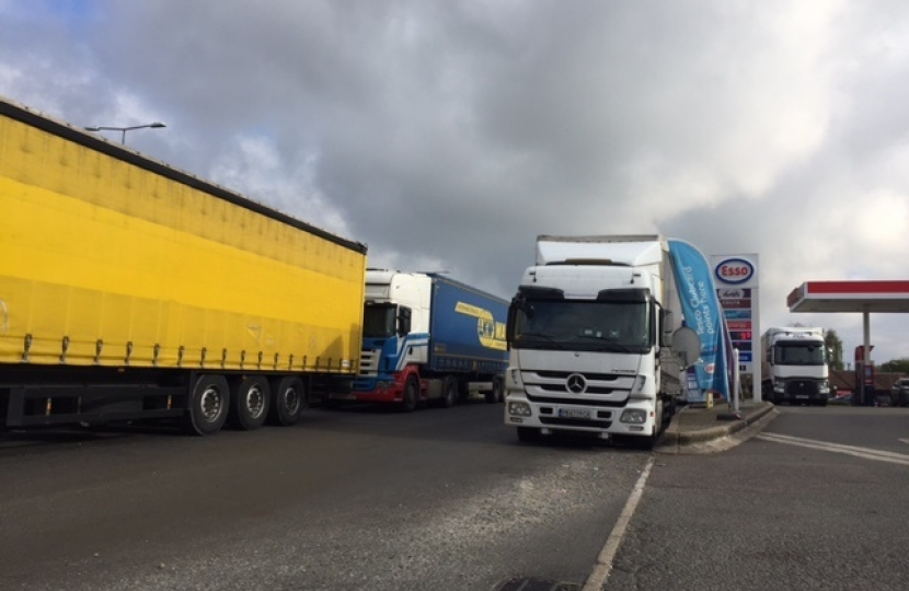 Lorries parked in the wrong places are dangerous