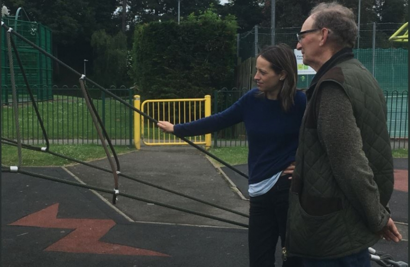 At the Rec with Cllr Simmons