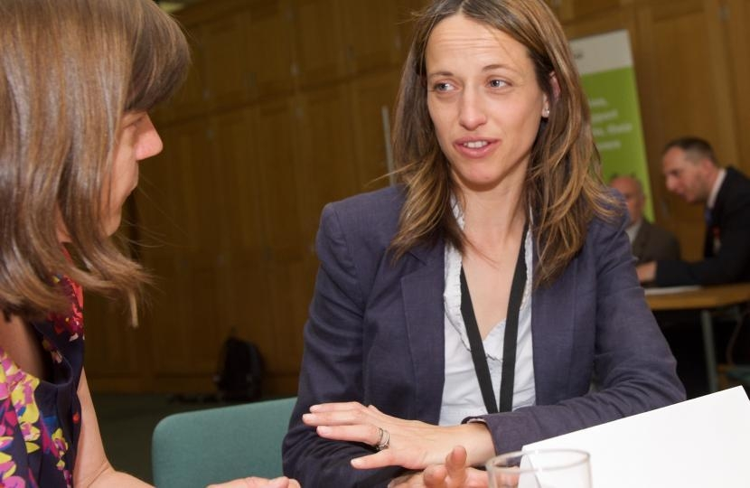 Helen Whately at a surgery