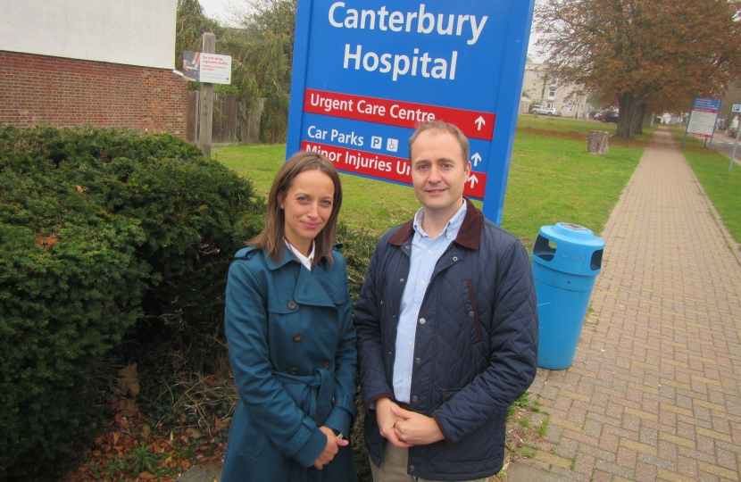 Simon Cook and I at Kent and Canterbury hospital