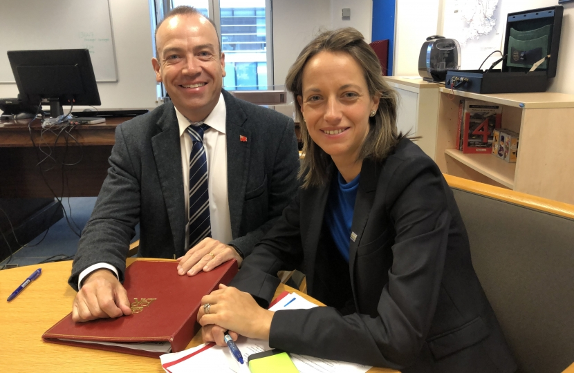 Helen Whately and the Rail Minister