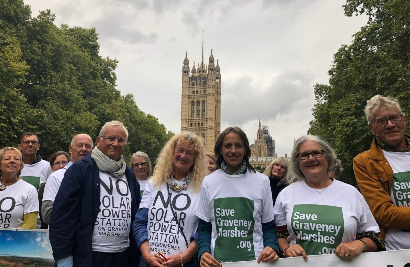 Helen with Graveney Marsh campaigners in Westminster