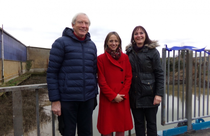 Helen with members of the Faversham Creek Trust