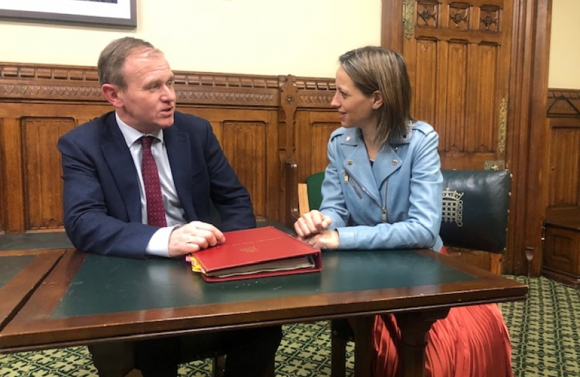 Helen with the new DEFRA Secretary, George Eustice MP