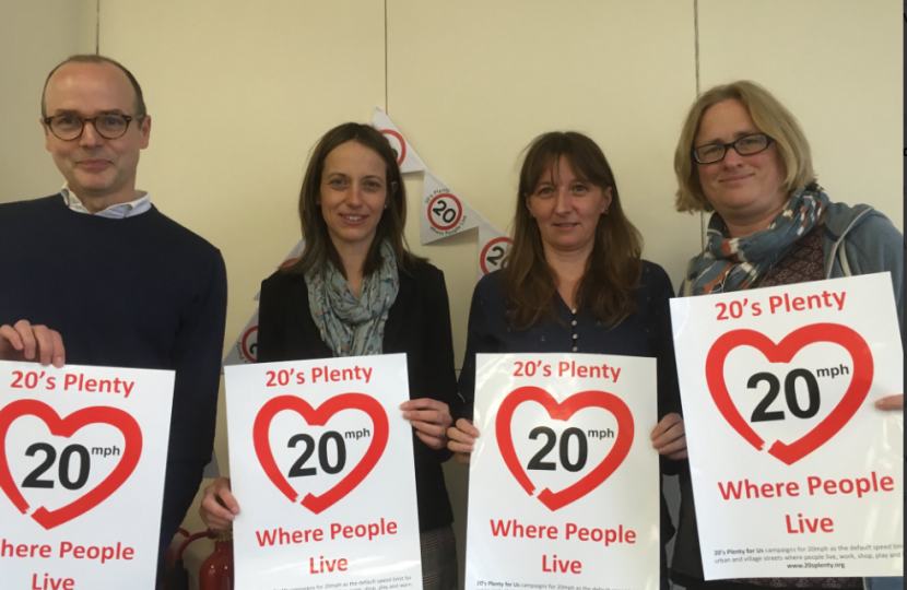 Helen with 20's Plenty campaigners