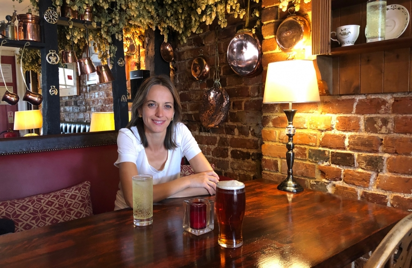 Helen in the pub
