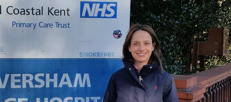 Helen Whately at Faversham Village Hospital