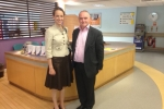 Helen Whately at William Harvey hospital