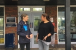 Helen Whately discusses the future of Headcorn station with local councillor Shellina Prendergast