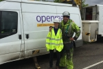 Helen with BT Openreach staff