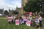 Campaigning for K&C Hospital in Westminster