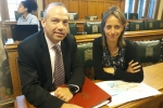 Helen with Minister Chris Heaton-Harris