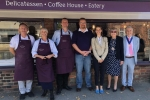 Helen at shop opening in Headcorn