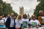 Helen with campaigners in Westminster