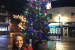Helen at the Faversham Christmas Lights