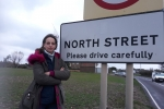 Helen at the proposed site of the North Street development