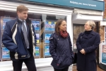 Helen with Police and Crime Commissioner Matthew Scott in Headcorn