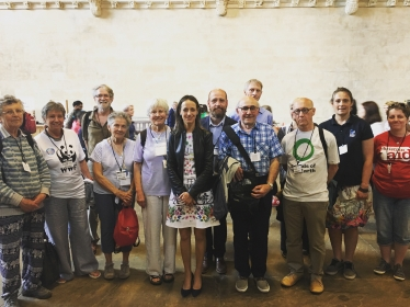 Helen with climate change campaigners
